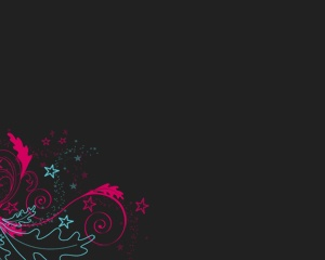 Free Ornaments PowerPoint Template with dark background