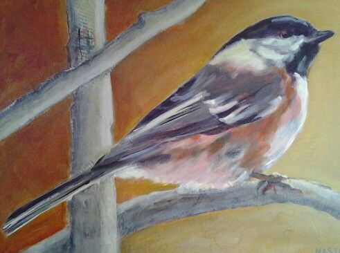 Portrait of a Chickadee, See the original at the Art Gallery of Bancroft in July 2016