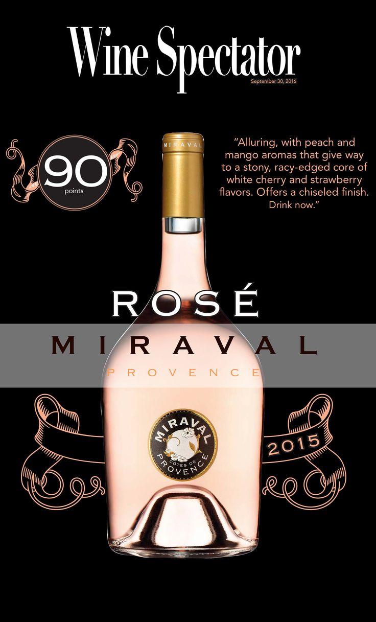 Miraval Rosé 2015 - 90 points - Wine Spectator