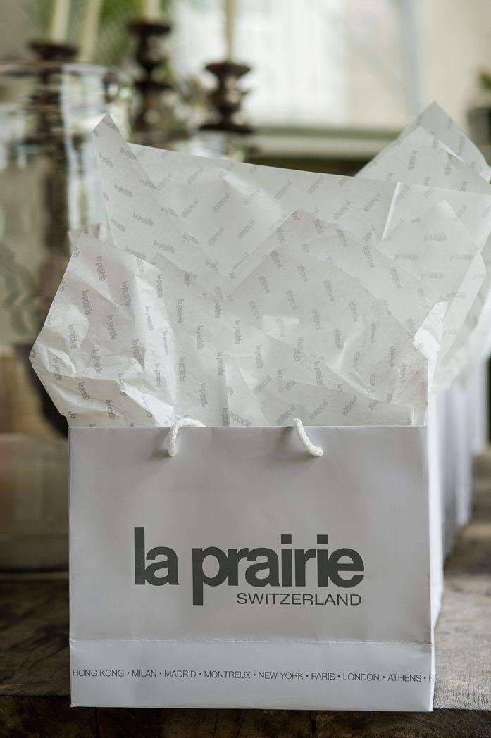 Gift bags from La Prairie   #opulentliving #laprairie