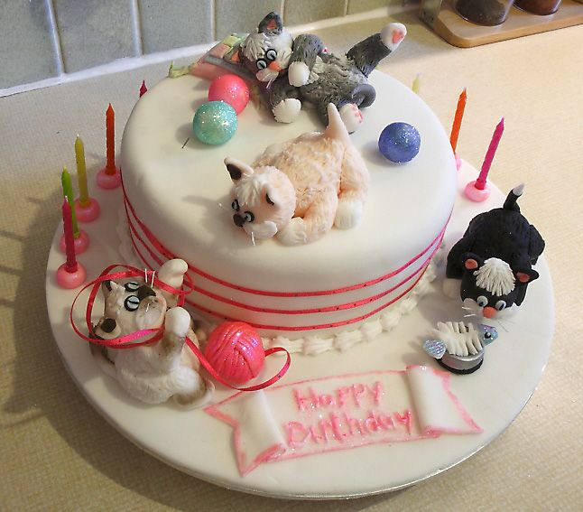 Cat Birthday Cake Toppers Gallery Birthday Cake With Candles