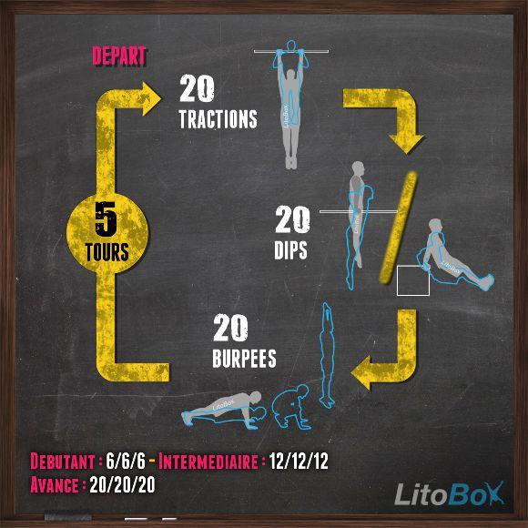 Entraînement de CrossFit au poids du corps avec seulement 3 exercices ! #crossfit #musculation