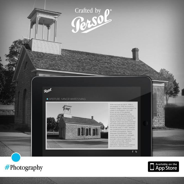 Discover craftsmanship in photography on our new iPad app, CraftedxPersol. Free download @ http://pers.sl/Q4wMuS