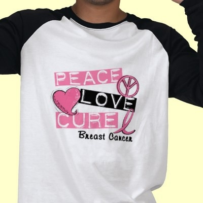 Support every Woman battling BREAST CANCER by promoting Awareness with 'PEACE LOVE CURE BREAST CANCER' t-shirts, gifts, and apparel featuring Label text, Peace Symbol, Pink Heart, and Pink Ribbon. Ideal for BREAST CANCER Awareness Month, BREAST CANCER Awareness Walks and Runs or ANY other time.
