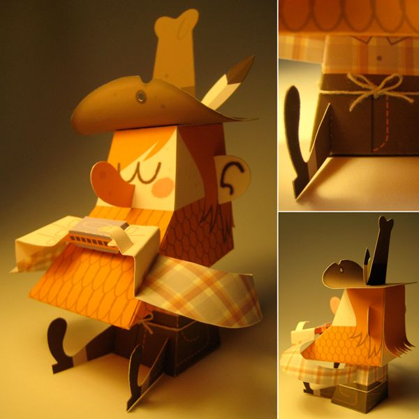 Buster paper toy by Leo Espinosa, via Behance