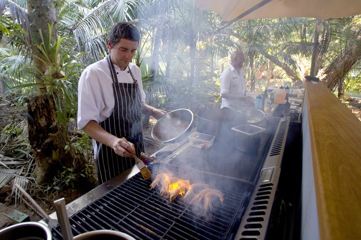 Chef Al cooking lunch   Lord Howe Island