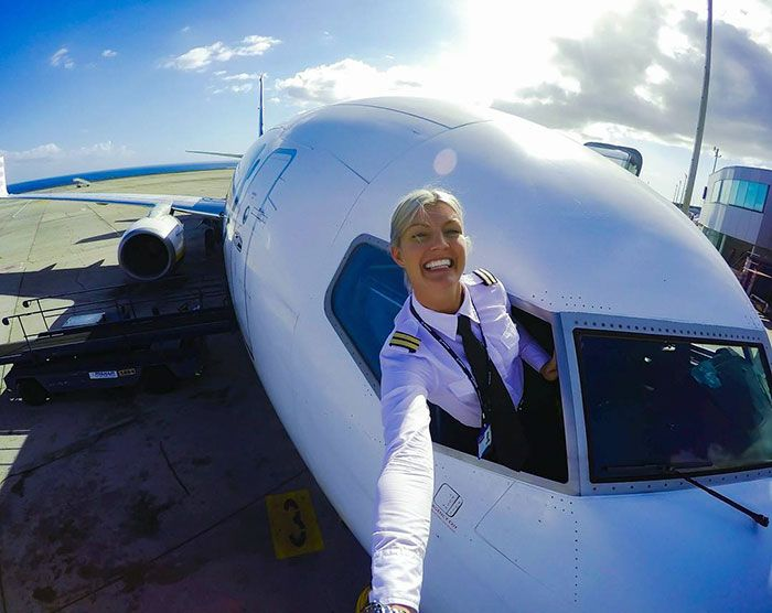 We don't often get to see the casual side of commercial airline pilots, but Maria Pettersson isn't an ordinary airline pilot. She's also an internet sensation who inspires her 200k+ followers on Instagram with her yoga-loving, globe-trotting exploits.