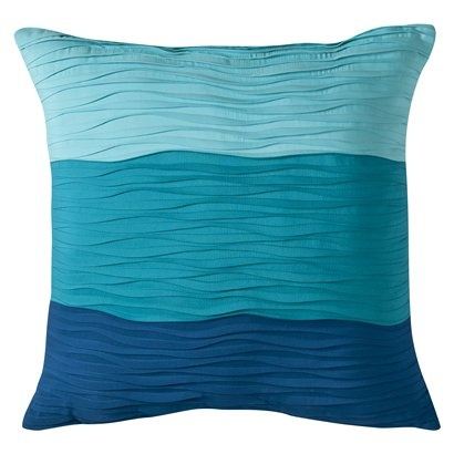 Room Essentials® Pin Tuck Wave Decorative Pillow - Turquoise