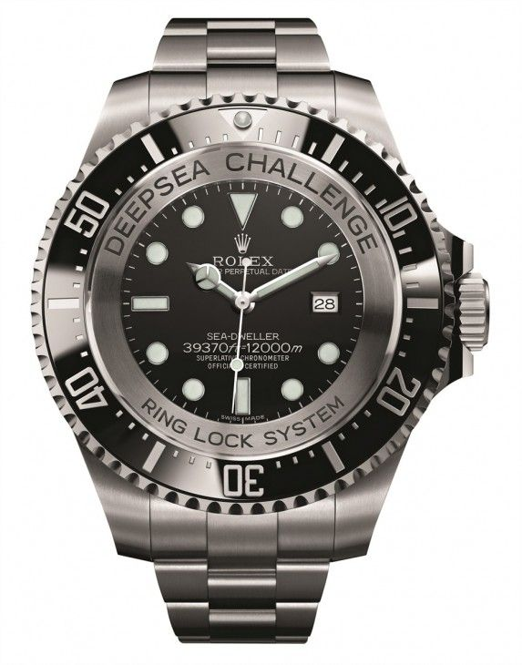 The new (experimental) ROLEX Deepsea Challenge Watch:  water resistance:  12,000 meters / 39,370 feet…