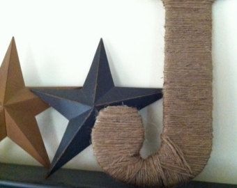 1 Large twine wrapped letter by RusticBelleTreasures on Etsy