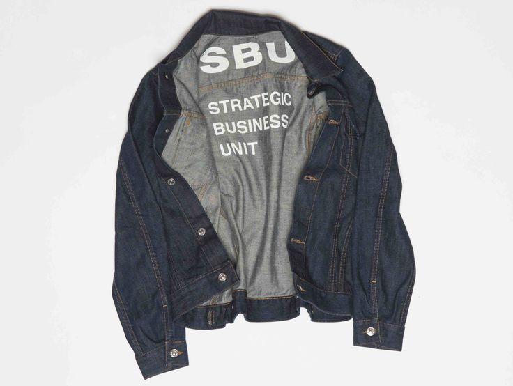 SBU pure indigo dyed denim jacket. made in italy.