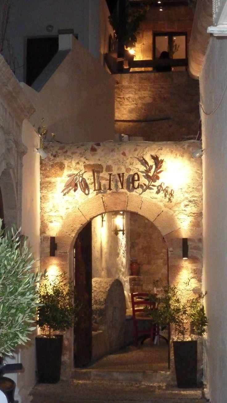 Olive Street - Olive Bar and Restaurant - Lindos Rhodos - Surprisingly good food...