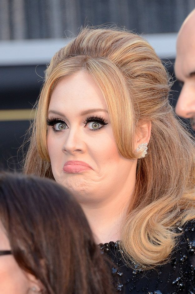 We miss these flawless Adele faces. | 25 Reasons Adele Needs To Come Back Immediately