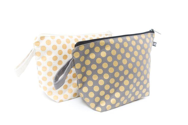 Fair Trade Organic Cotton Polkda Dot Bag #gold #organic #berkobaby
