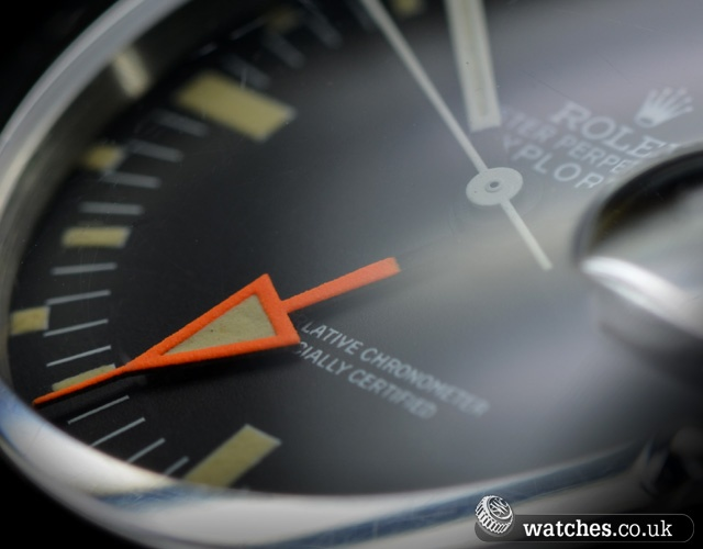The famous Orange Hand. Rolex Vintage Explorer II Orange Hands (Straight Second Hand) Ref 1655. We buy and sell vintage Rolex watches. Contact Us - www.watches.co.uk