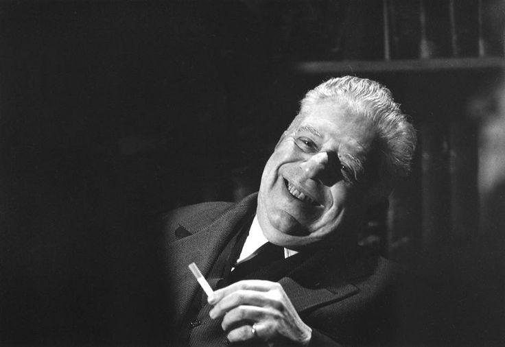 Ferdinando Scianna Milan: The italian Nobel prize poet Eugenio MONTALE