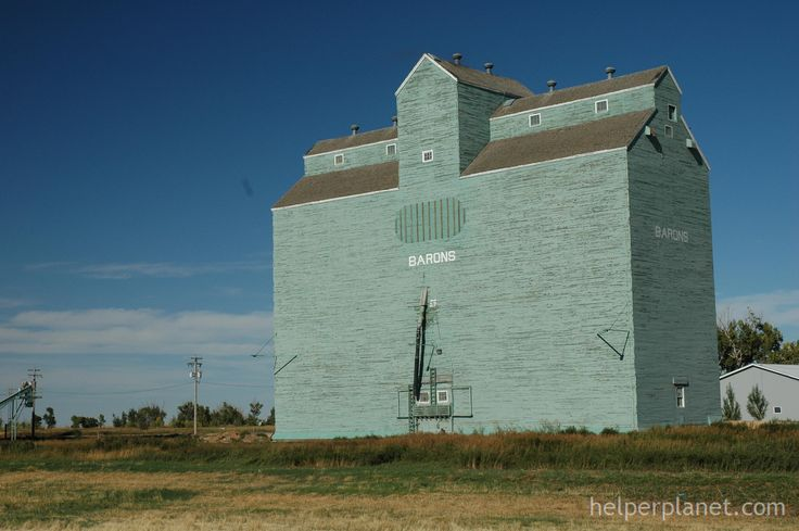 Large Grain Elevator Alberta Canada