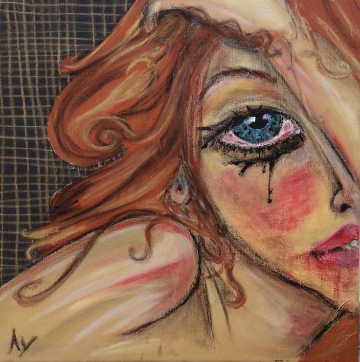 """I am..."" by Looiza Potapova: (acryl & oil paint & oil ) finger-painting technique 40 sm * 40 sm"