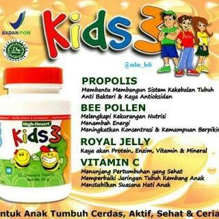 HDI KIDS 3, suplemen khusus yang dikembangkan dari formulasi unggul #royaljelly, #beepollen #beepropolis, dan diperkaya dengan #vitaminC untuk memenuhi kebutuhan nutrisi penting bagi anak-anak. Berbentuk tablet kunyah manis yang disukai anak-anak. #HDI #HughDesertIndonesia #KIDS3 #SuplemenAnak #NutrisiAnak. Info: Kuria 085286303619 BBM 26950965B