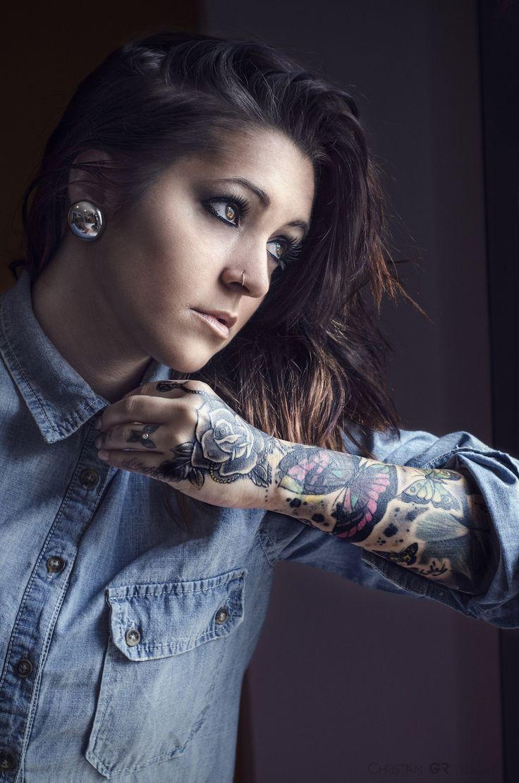 Women\u002639;s sleeve tattoo.  Tattoos  Pinterest  Women