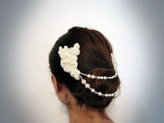 Melissa | Bridal Lace Headpiece Bridal Hair Accessories