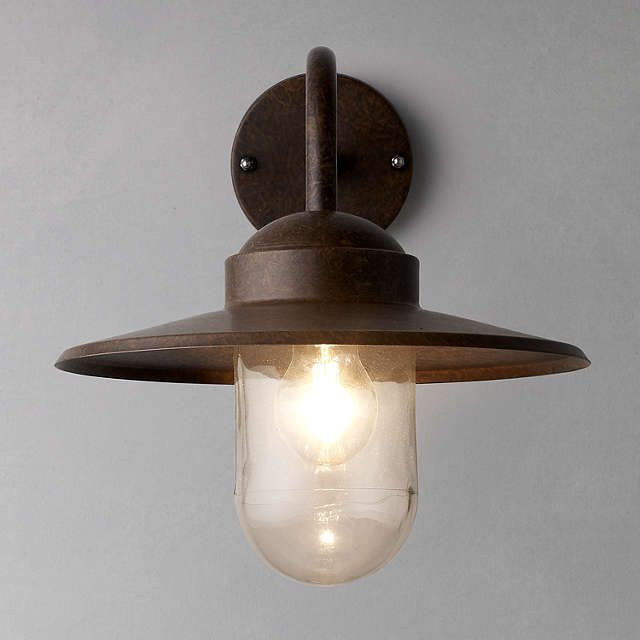 BuyNordlux Luxembourg Outdoor Wall Light, 'Weathered' Finish Online at johnlewis.com