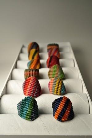 Macrame rings by AMiRA jewelry.