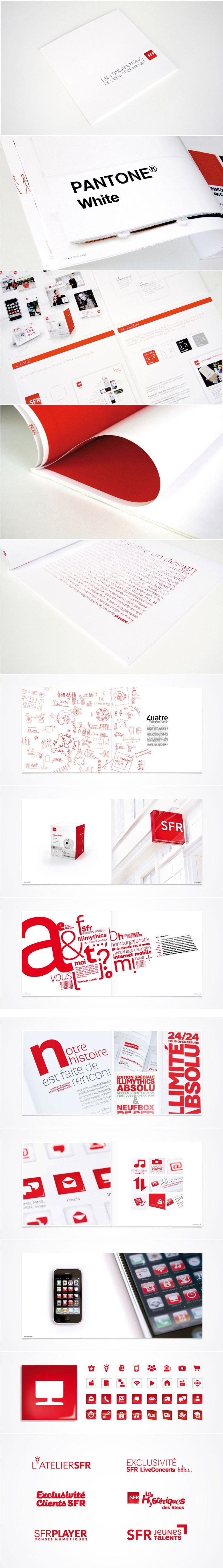 Red and white Cas SFR #identity #packaging #branding PD