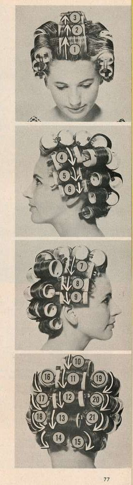 Retrogasm — How to set your hair…