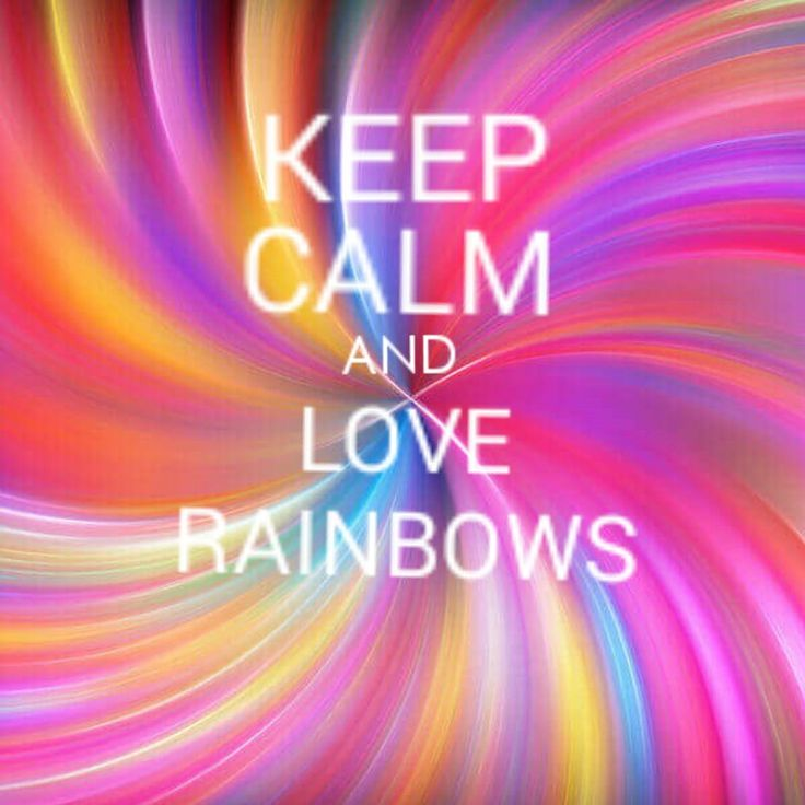 I love colors, I love rainbows!