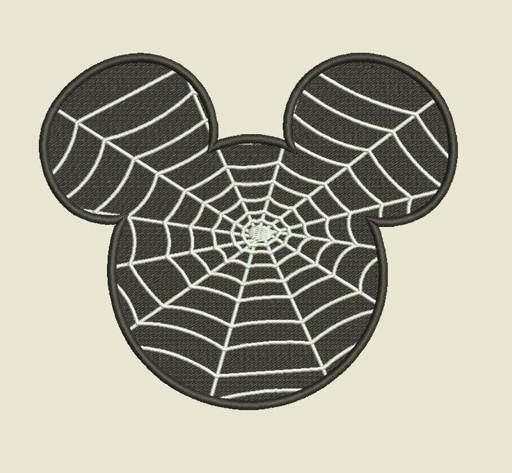 Mickey Mouse Spider Web Machine Embroidery and Machine Applique Halloween Design Files INSTANT DOWNLOAD .PES .Exp .Jef more! by InaHoop on Etsy https://www.etsy.com/listing/249944921/mickey-mouse-spider-web-machine