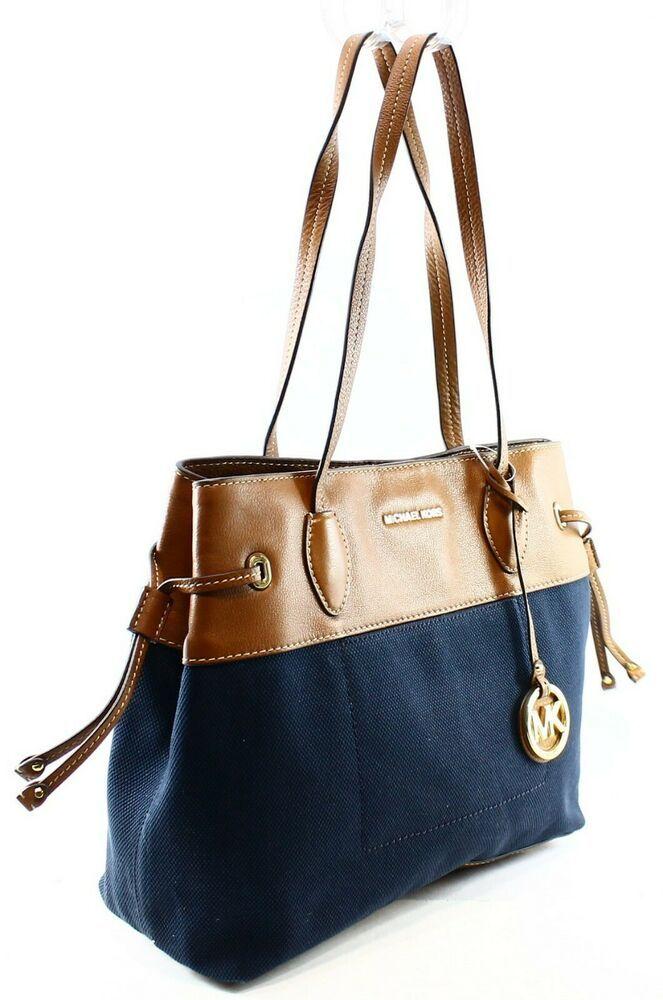 5c84e550f27f2d Michael Kors Marina Large North South Drawstring Tote Bag Denim Retail$298
