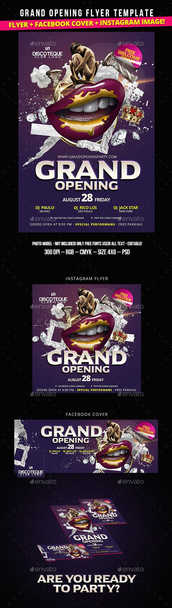 25 best ideas about grand opening party on pinterest launch party grand opening and red for Grand opening flyer ideas
