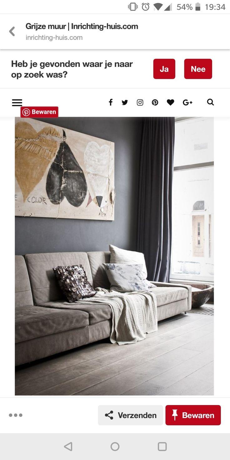 Pin van Eleonora Nieuwendijk op vloer Grijze muren, Muur