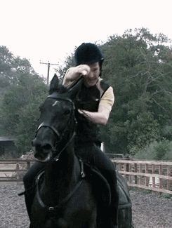 Benedict Cumberbatch on a horse. (GIF) =COMPLETE ^This movie is perfect though. Ben & Tom in the same movie!