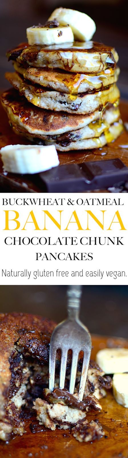 These pancakes were AMAZING! So fluffy and the buckwheat added a great nutty flavor! Plus they're gluten free, whole grain, and can be vegan!