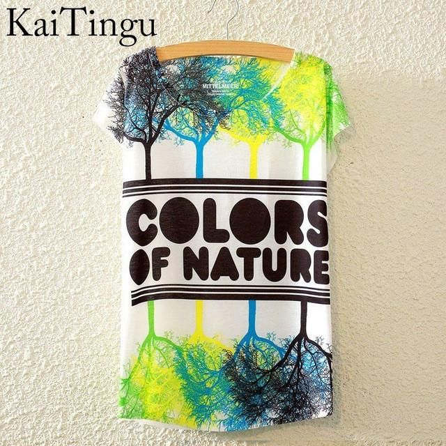 Colors of Nature Graphic Print Short Sleeve T-Shirt