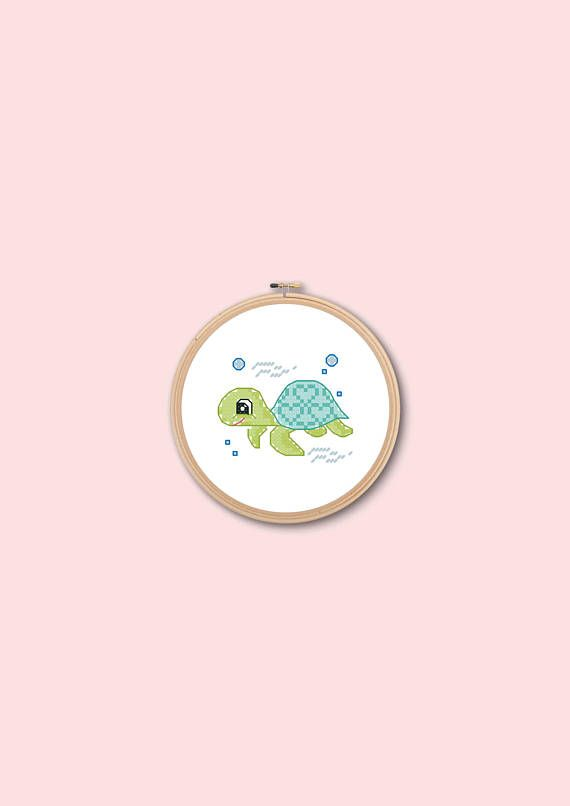 embroiderycross stitchturtlecounted cross stitchpdf