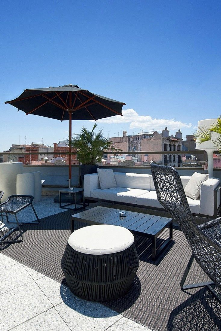 Scan the skyline from the rooftop bar. #Jetsetter Hotel Claris