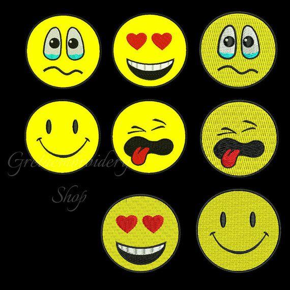 Emoji smiley Embroidery Design pack,Machine Embroidery Applique Design,emoji applique,emoticon embroidery design,smiley design embroidery