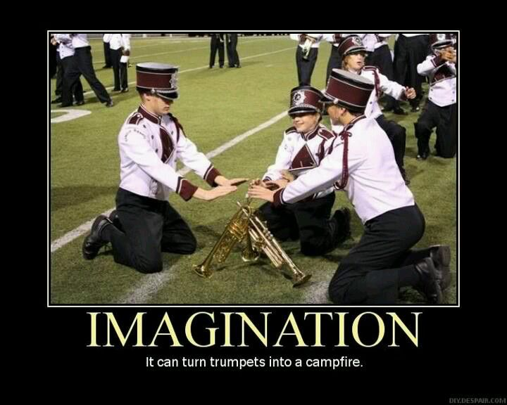 I could so see me and my section doing this with all 18 trumpets. Somehow we'd make it work..