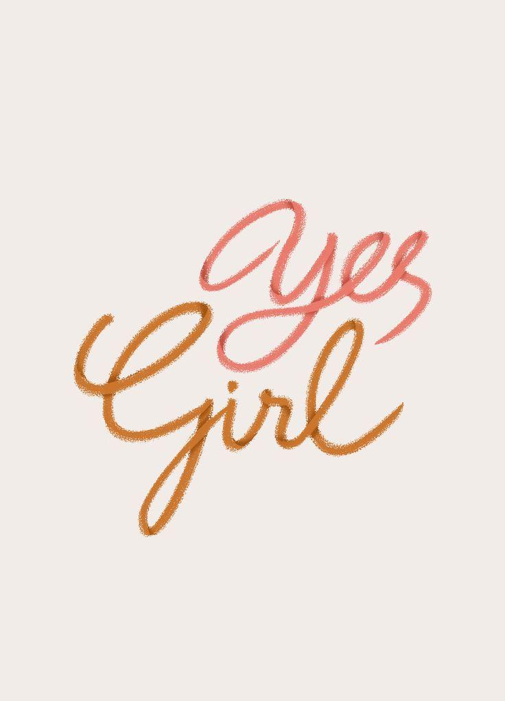 yes girl print