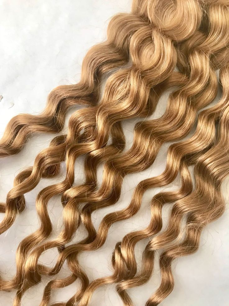 Curly Blonde Hair Extensions (Ash Blonde / Honey Blonde/color #27)