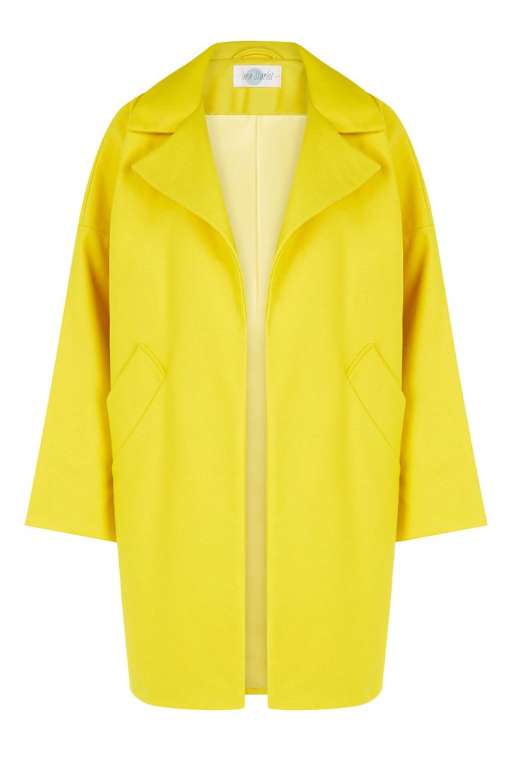 BLACK FRIDAY SALE: The Cocoon Coat - Yellow