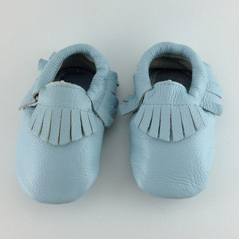 Canary Blue - Baby Moccasins