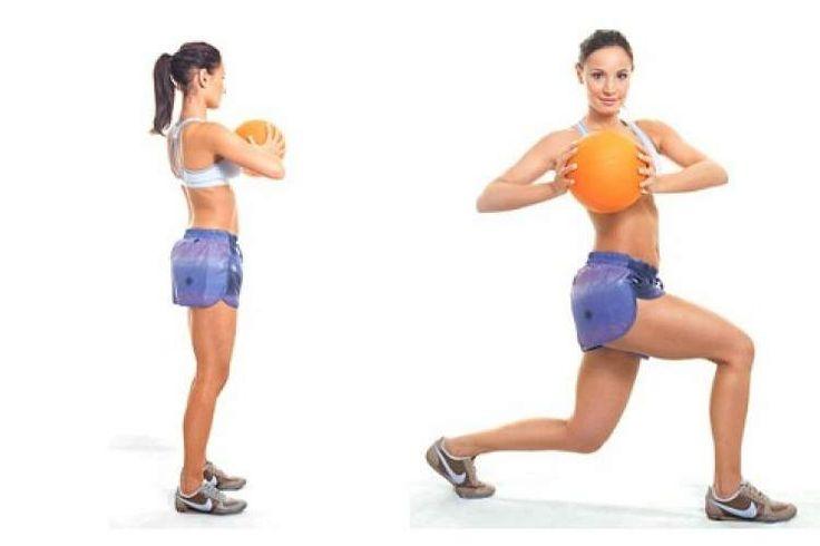 giro com bola para afinar a cintura