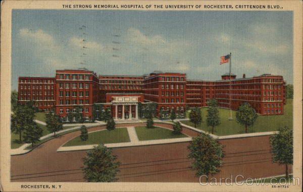The Strong Memorial Hospital of The University Of Rochester New York 1958