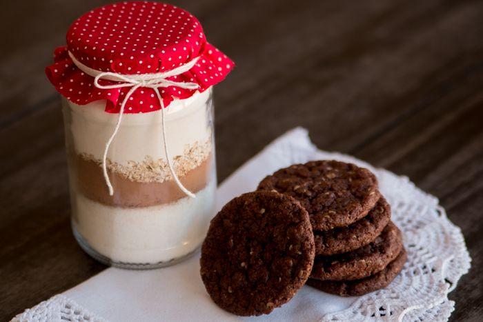 t w o  b e e: [Receita] Cookie no pote de vidro, para presentear...