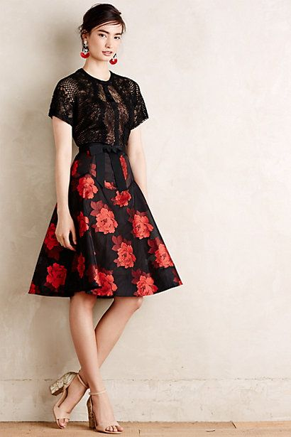 Castilian Rose Dress #anthropologie