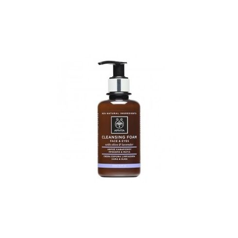 Apivita Cleansing Creamy Face & Eye Foam with Lavender & Olive 200ml